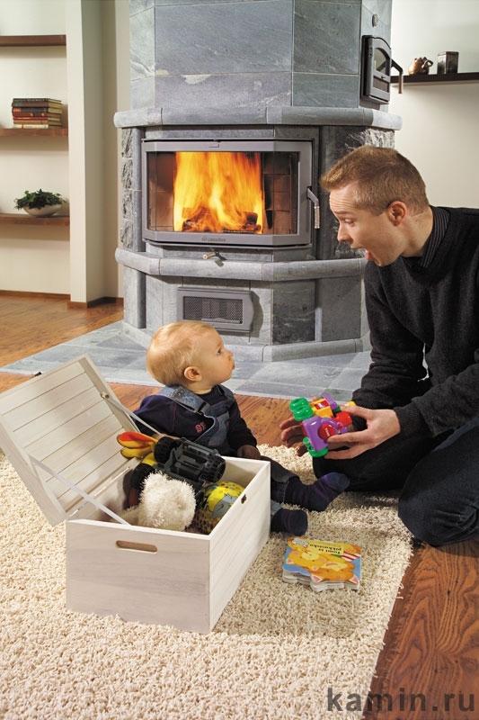 Домотехника: Финские печи-камины NunnaUuni из талькомагнезита