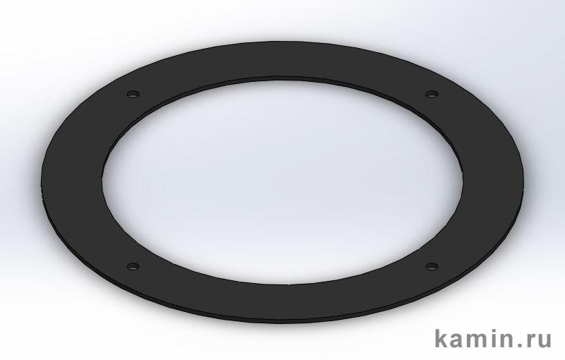 Traforart. Розетка D200 для плоского потолка, черная
