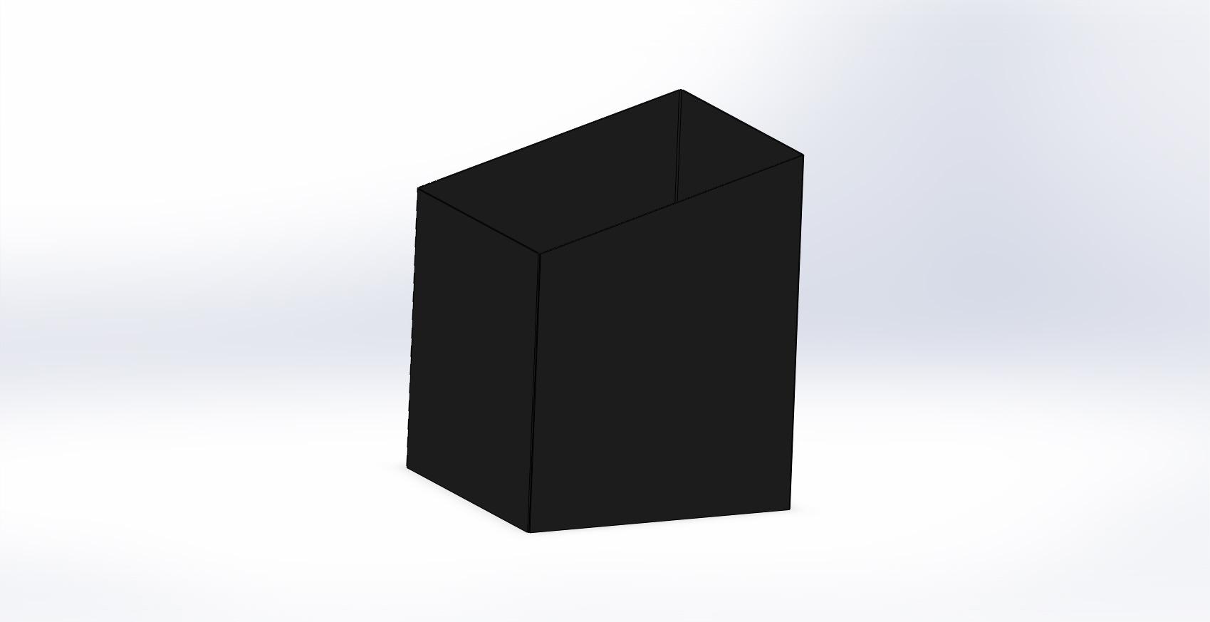 Traforart. Телескопический элемент под наклоном, черный.