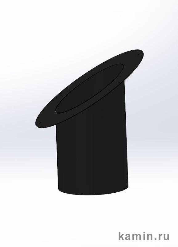 Traforart. Телескопический элемент круглого сечения с розеткой для наклонного потолка, черный